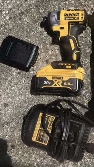 Dewalt 20v XR brushless impact drill with 6.0ah battery for Sale in San Mateo, CA