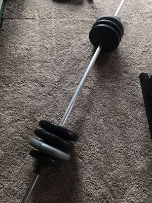 Barbell with 70lbs for Sale in Renton, WA