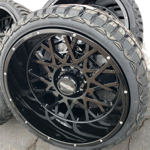 24x12 Wheels 8x6.5 & 33x12.50R24 R/T Brand New for Sale in Elgin, IL