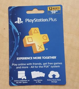 PlayStation Plus 1 Year Membership for Sale in Parma, OH