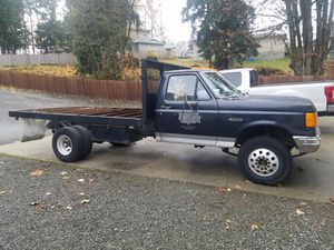 1991 ford F450 7.3 diesel flatbed for Sale in Monroe, WA