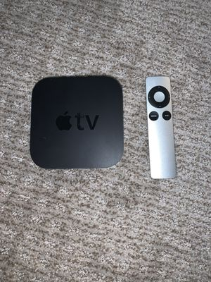 Apple TV 3 like new works great power cord and remote for Sale in Phoenix, AZ