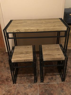 Table with 2 bench stools for Sale in Brooklyn, NY