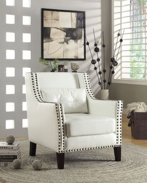 Best seller! Upholstered Accent Chair! With Nailhead! Trim White! for Sale in Sacramento, CA