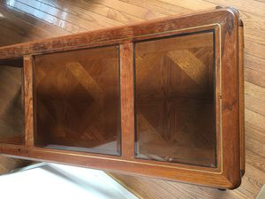 Antique wood and Tinted Glass Center Table for Sale in Triangle, VA