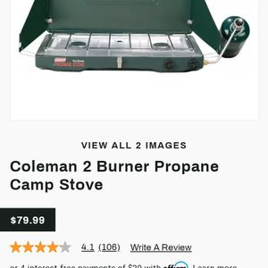 Camping Coleman Electric Ignition Stove for Sale in McKinney, TX