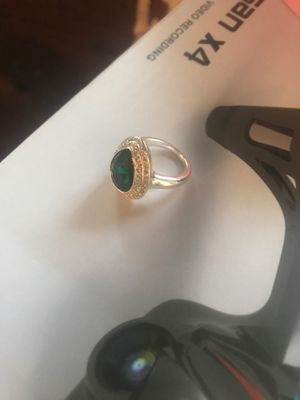 Sterling Silver Faux Emerald Ring for Sale in Pittsburgh, PA