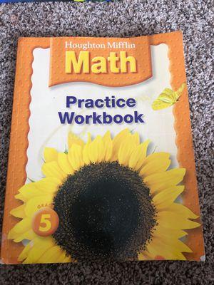 Grade 5 Houghton Mifflin Math workbook for Sale in Herndon, VA