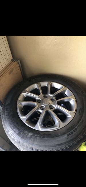 """Jeep Grand Cherokee 18"""" wheels and tires for Sale in Laveen Village, AZ"""