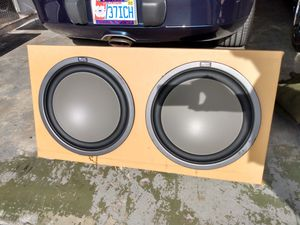 "1964 Impala dual 15"" subwoofers in custom box for Sale in Hollywood, FL"
