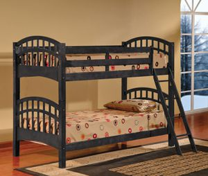 """Solid Wood Twin/twin Bunk Bed in Espresso or White / Mattress Available for $99 / Optional Storage Drawer/Trundle Available For $129 / 42.5""""x81""""x58"""" for Sale in Vancouver, WA"""