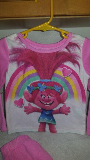 Poppy troll pajamas, girls, 3T. Very soft, Pajamas are light pink for Sale in Riverside, CA