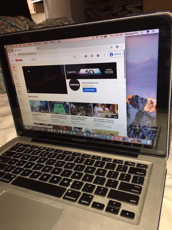 "2012 MacBook Pro Intel I5-2.5 GHz, 4 Gb, 500Gb Solid StHybrid Drive, 13"" Screen, Sierra, Final Cut Pro..Free programs!Bonus-Free Airpods TWS"