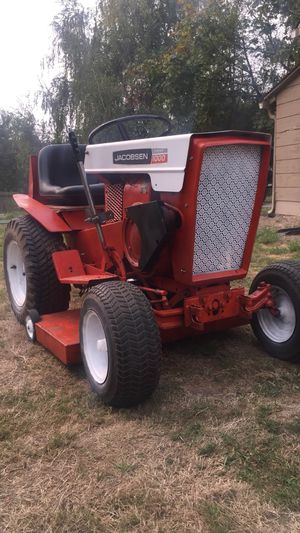 Jacobsen riding lawnmower tractor with attachments for Sale in Kent, WA