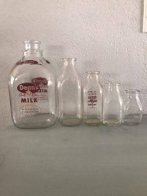 Antique Glass Milk Bottles for Sale in Apopka, FL