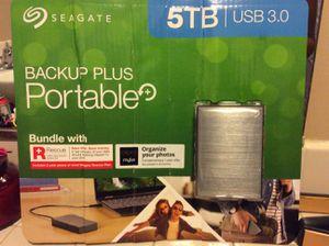 SEAGATE 5 TB BACK UP PLUS PORTABLE for Sale in Santa Ana, CA