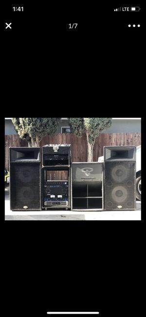 Dj equipment/ B52 Speaker/ Cerwin Vega Subwoofer/ CD players / Mixer for Sale in Azusa, CA