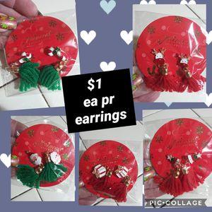 New christmas earrings for Sale in Fresno, CA