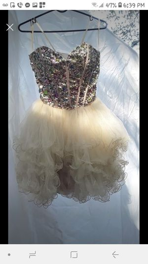 Tan sequin tutu dress for Sale in Lawrenceville, GA