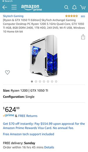 Sky Tech Gaming PC for Sale in Denver, CO