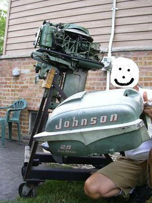 Totally rebuilt 1955 Johnson 25 HP outboard motor for Sale in Addison, IL