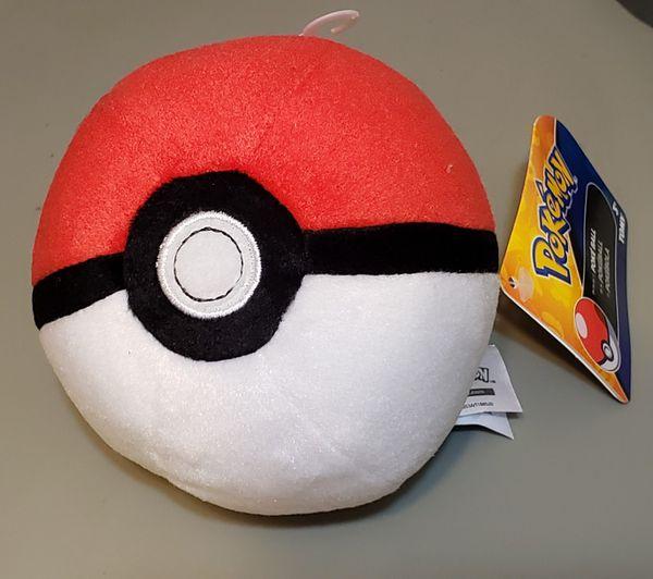 "POKEMON Poke Ball 5"" Plush (Red & White)"