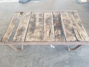 Antique steel frame wooden palette for Sale in Dallas, TX