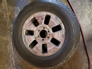 "2 - 18"" Chrome Rims w/tires for Sale in Las Vegas, NV"