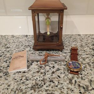 Disney Peter Pan and Captain Hook Watch with Tinkerbell Display Figure - Limited Edition - New In Box for Sale in Windermere, FL