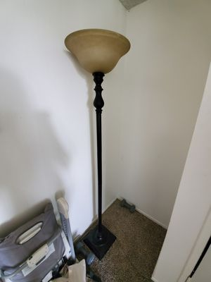 Floor Lamp with Glass Bowl Shade for Sale in Huntington Beach, CA