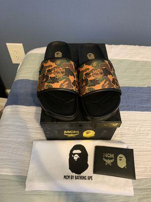 BAPE x MCM Camo Slides for Sale in Orlando, FL