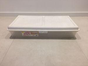 Underbed Plastic Storage Box / Bin / Container for Sale in Miami, FL