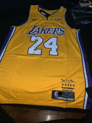 Brand New Kobe Bryant #24 Los Angeles Lakers Yellow Retirement Swingman Men's Jersey Size S,M & L available for Sale in Santa Fe Springs, CA