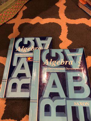 Saxon Algebra 1/2 + Solution manual for Sale in Avondale, AZ