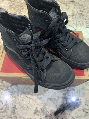 Vans Pop Check Sk8 Hi Zip Pop Check Canvas Black Shoes Sneakers Kids Size 13 for Sale in Washington, DC