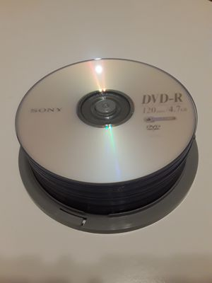 25-ct Spindle SONY DVD-R discs, 120 min / 4.7 GB - Brand New! for Sale in Las Vegas, NV