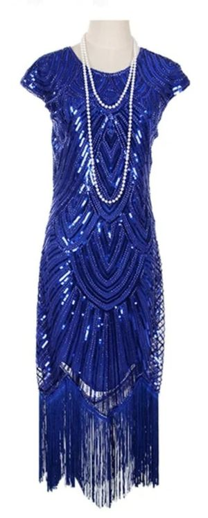 FLAPPER GREAT GATSBY V-NECK SLEEVE SEQUIN FRINGE MIDI DRESSES for Sale in Los Angeles, CA