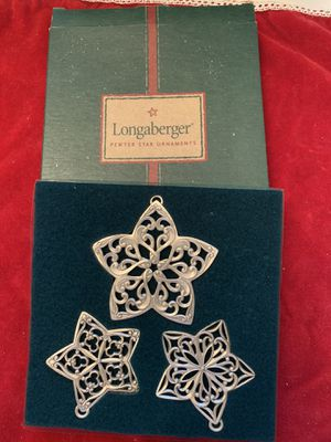 Longaberger star ornaments for Sale in Greer, SC
