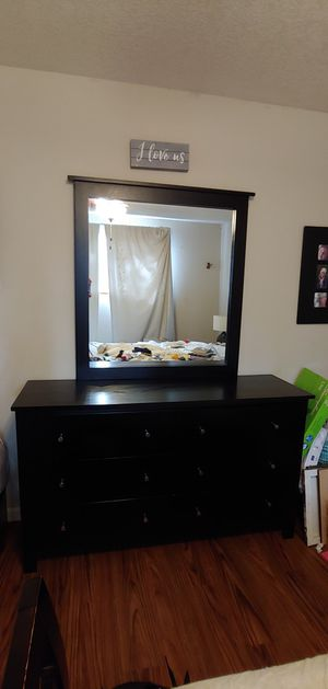 Dania 6 drawer dresser with mirror for Sale in Portland, OR