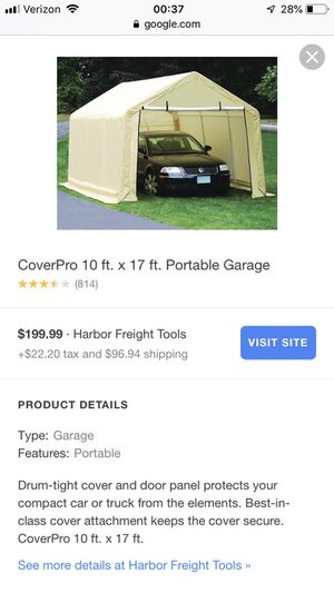 10x17 portable garage for Sale in AZ, US