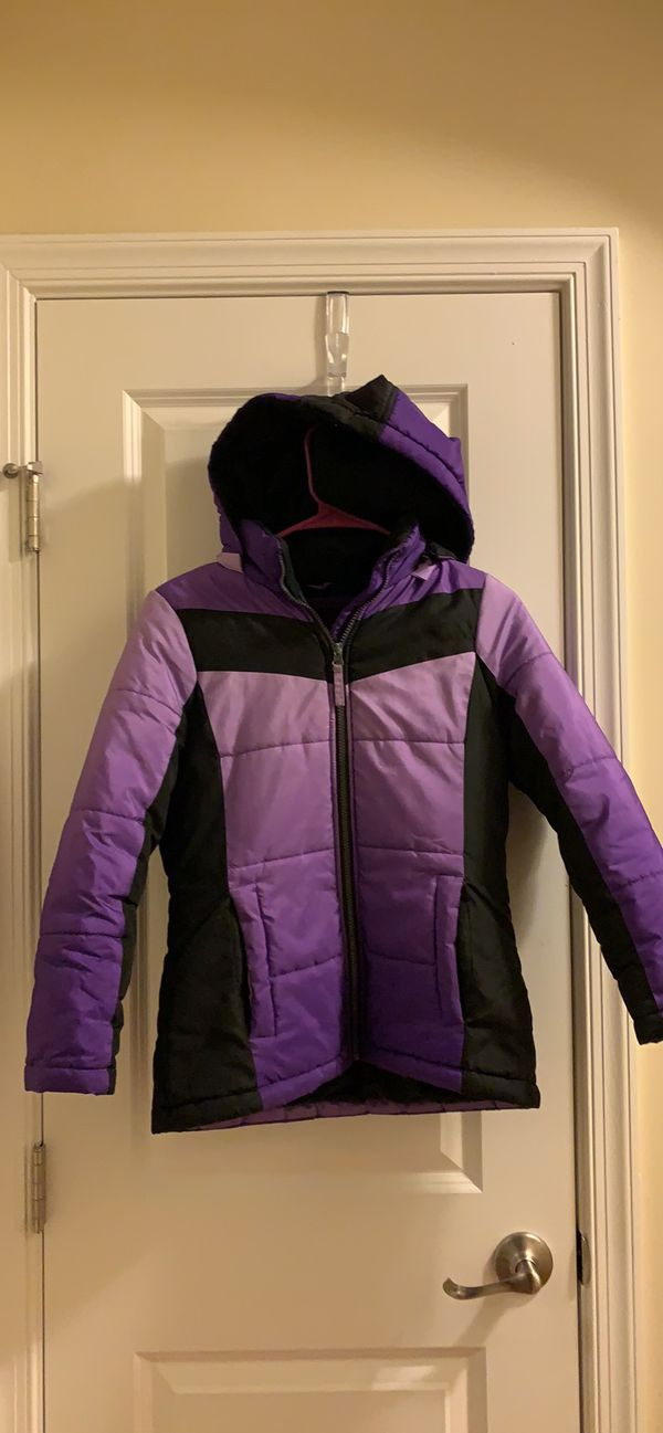 Snowsuits for Kids - Girls 2-Piece Ombre Snowsuit Amethyst/Black and Pink/Black size 10-12