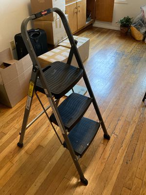 Rubbermaid RM-3W Folding 3-Step Steel Frame Stool with Hand Grip and Plastic Steps for Sale in New York, NY