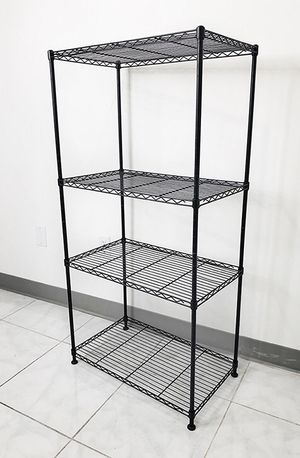 "Brand New $35 Small Metal 4-Shelf Shelving Storage Unit Wire Organizer Rack Adjustable Height 24x14x48"" for Sale in South El Monte, CA"