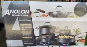 New Anolon 11 piece hard anodized nonstick set for Sale in Riverside, CA