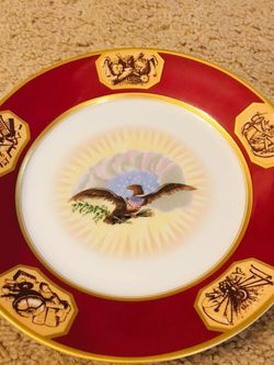 Bavarian China Germany Authentic Re-creation of the White House China Pattern Plates for Sale in Columbia,  MO