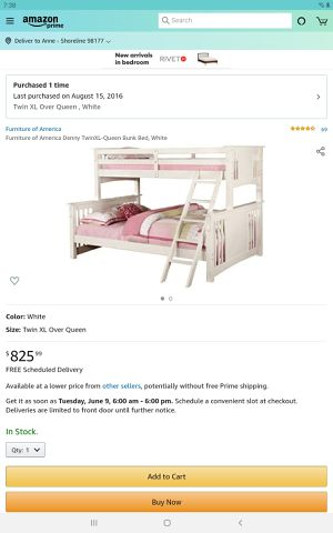 Twin over queen bunkbed for Sale in Seattle, WA