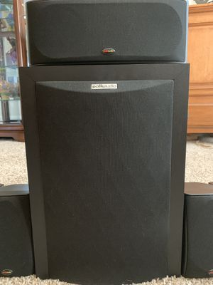 Polk Audio 5.1 speakers with subwoofer for Sale in VLG O THE HLS, TX