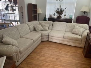 Sectional couch with tables for Sale in Wesley Chapel, FL