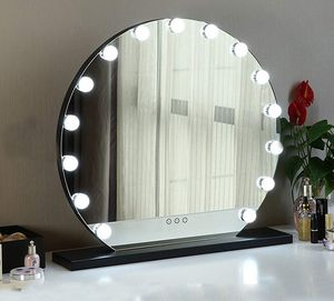 "$140 NEW Round 24"" Vanity Mirror w/ 15 Dimmable LED Light Bulbs Beauty Makeup (White or Black) for Sale in Whittier, CA"
