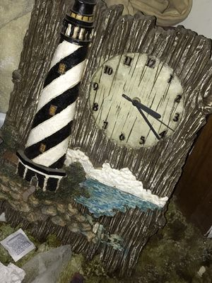 Wooden lighthouse collectable antique clock for Sale in Indianapolis, IN